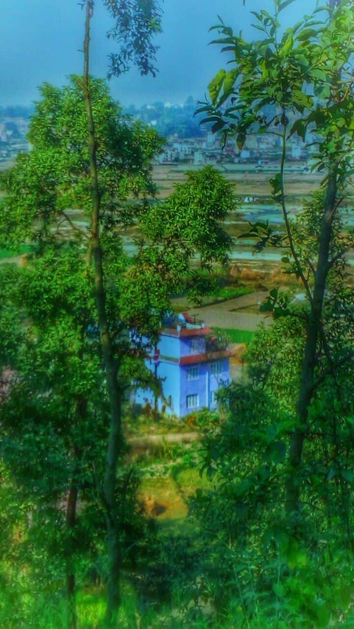 Changunaragan Temple,Manohara River, Landscape.