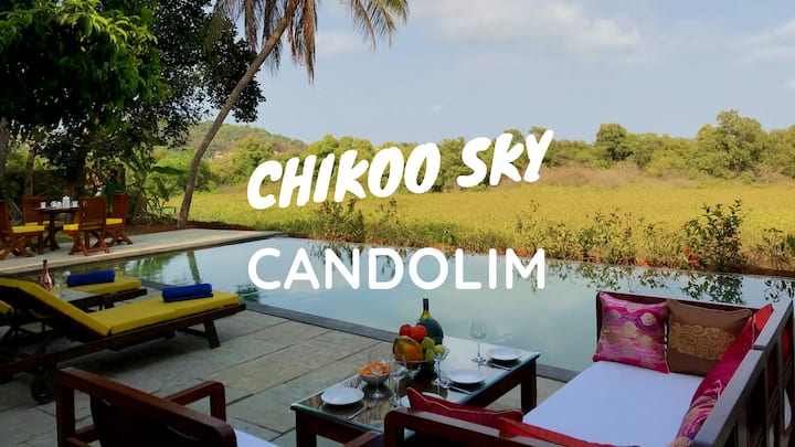 CHIKOO SKY New 5BHK Villa Private Pool Candolim