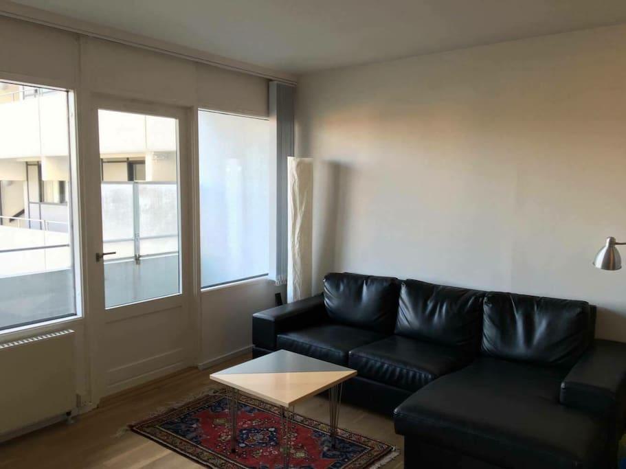 Sofa-lounge og altan