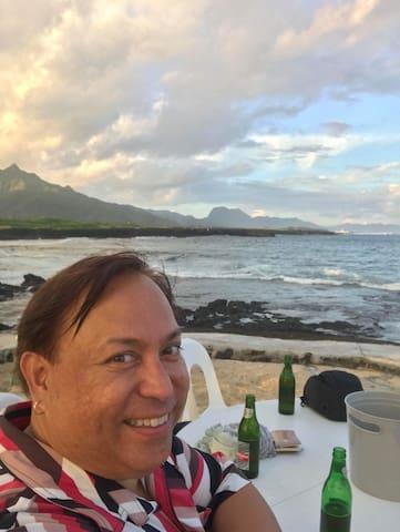 General Manager Uti enjoying the island ocean breeze