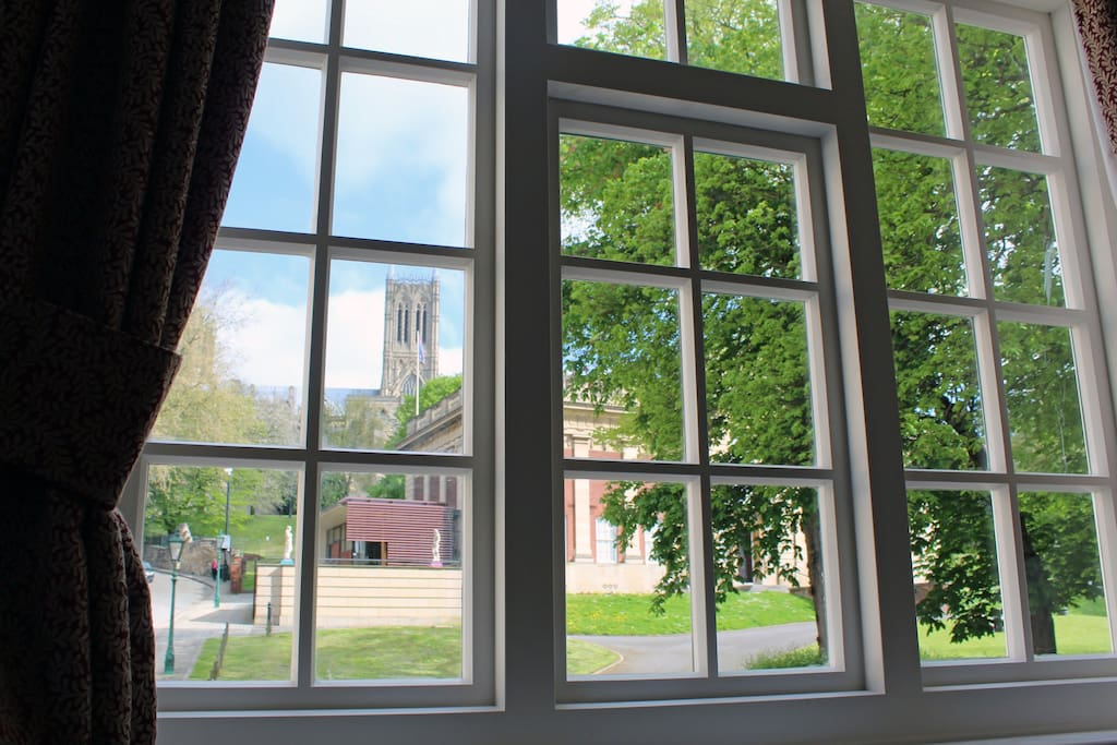 Outstanding Cathedral View from the Living Room