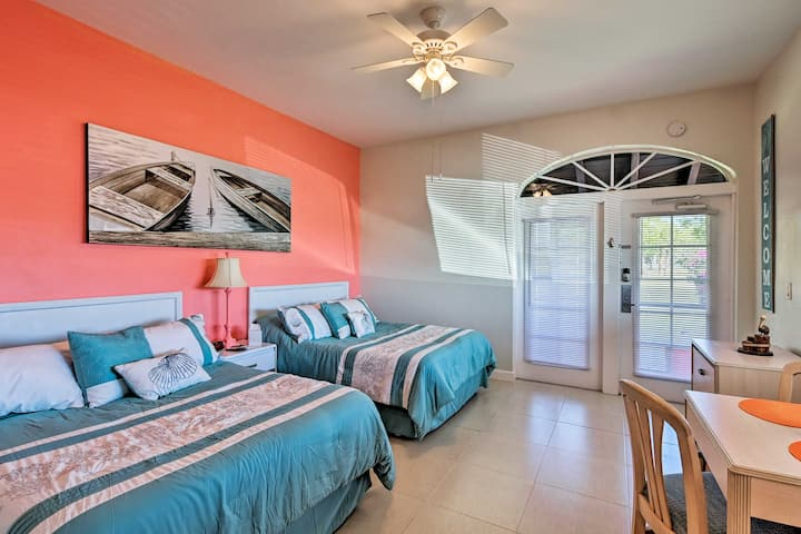 Everglades Studio w/Marina View, Patio+Pool Access