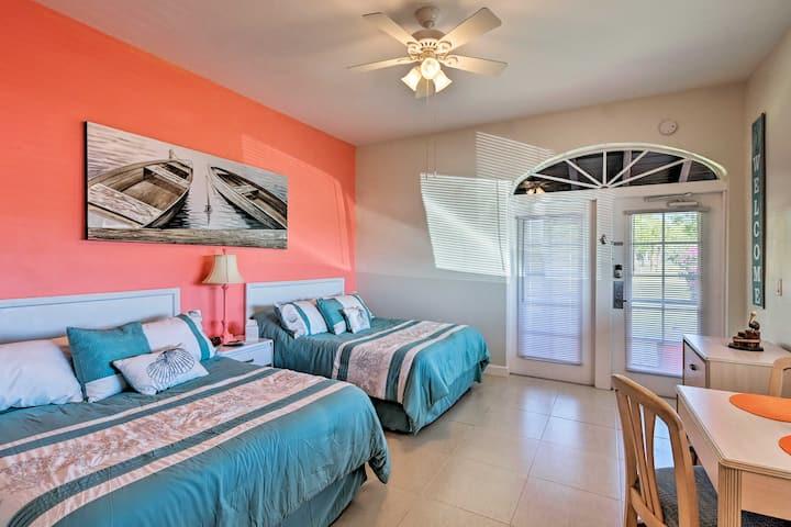 Everglades Studio w/Marina View, Patio+Pool Access