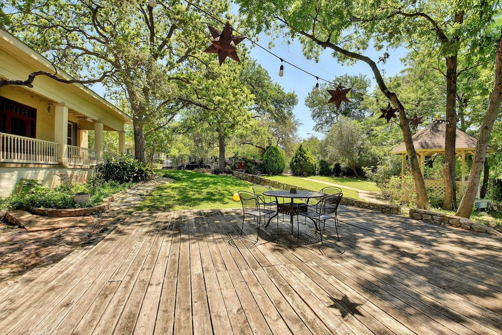 This gorgeous house is set in a beautiful location, adjacent to Shoal Creek and only a block from Pease Park.