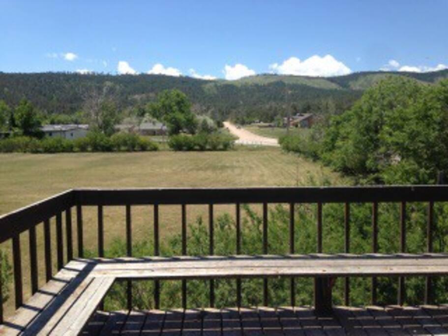 Back deck overlooking Black Hills in Piedmont