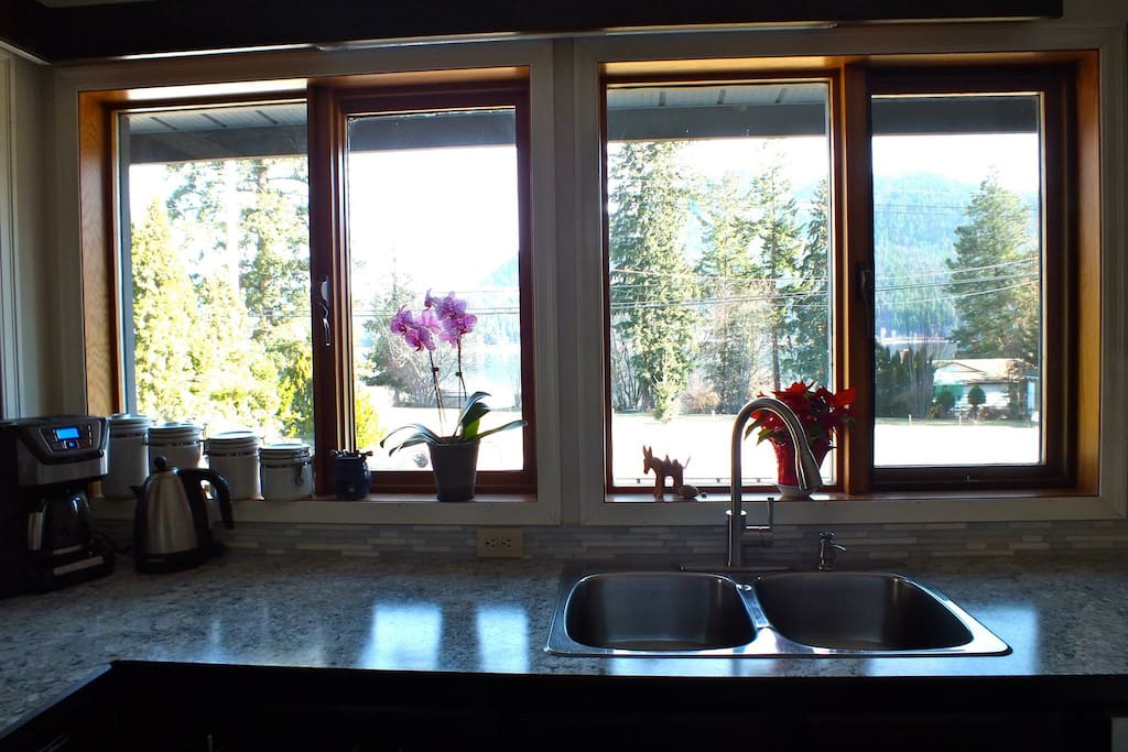 Wake up and take in the view from the kitchen