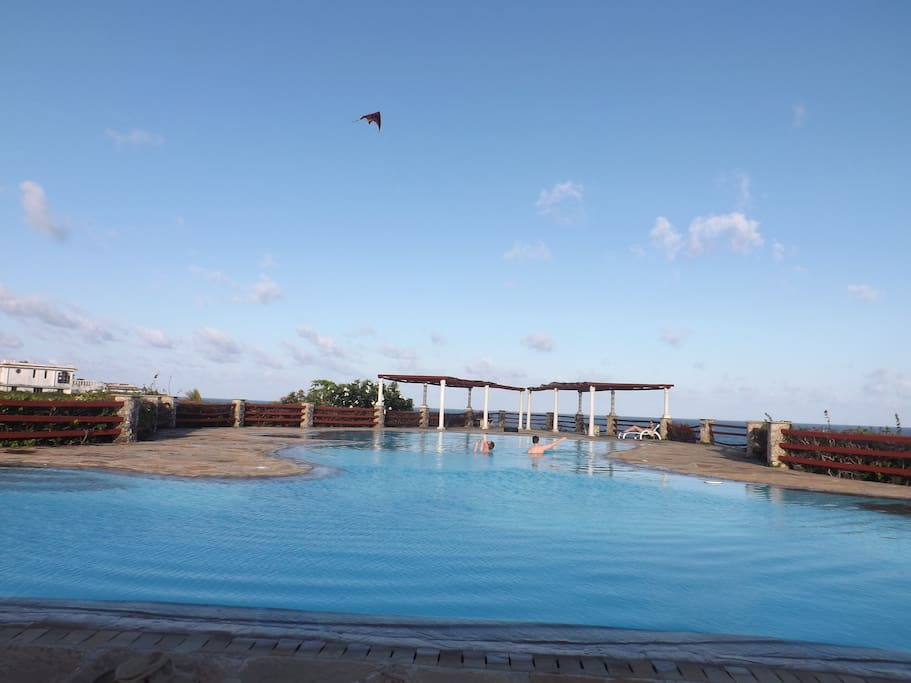 Communal pool only 5 mins walk from house
