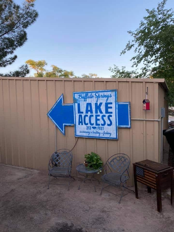 Rent a cabin at Buffalo Springs Lake