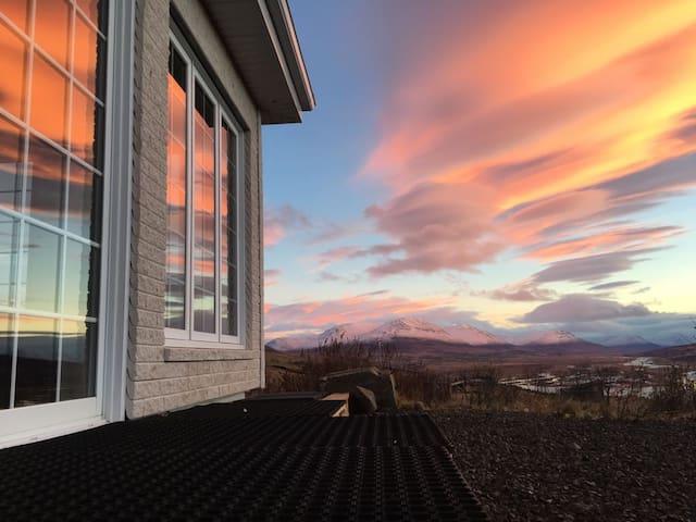 Spacious Canadian. Amazing panorama over Akureyri