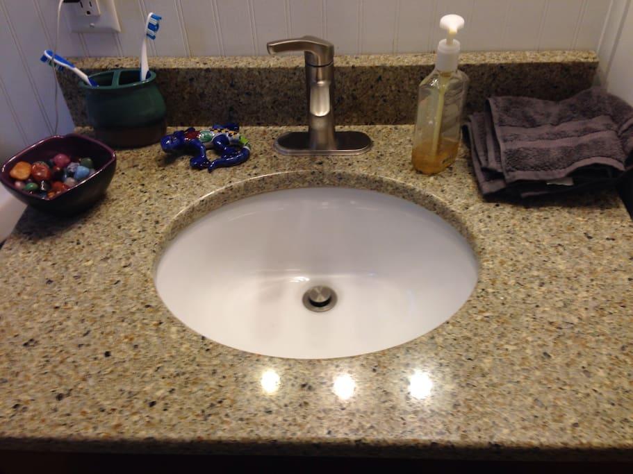 Main Floor bathroom sink