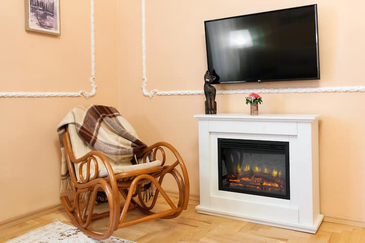 Уютные двухкомнатные апартаменты в сердце Львова