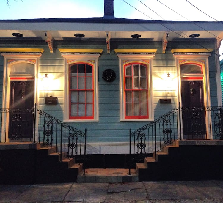 Traditional New Orleans Duplex Shotgun style