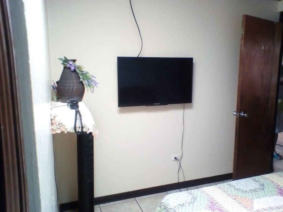 TV in smaller room.