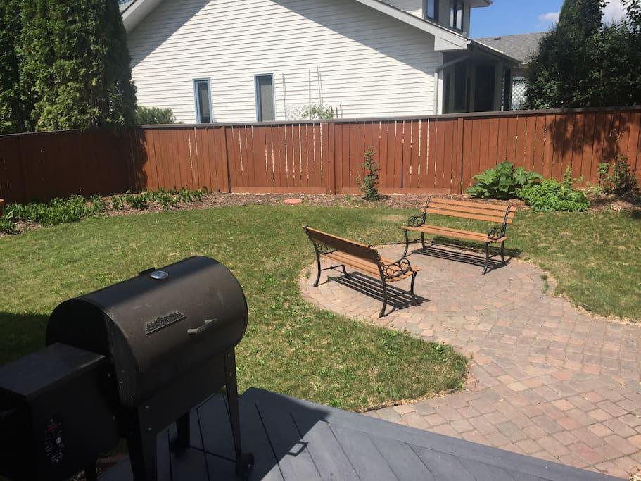 Backyard and BBQ smoker