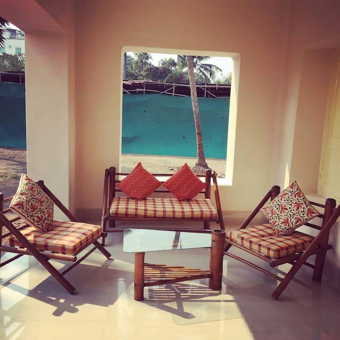 Sitting area  in the verandah / patio