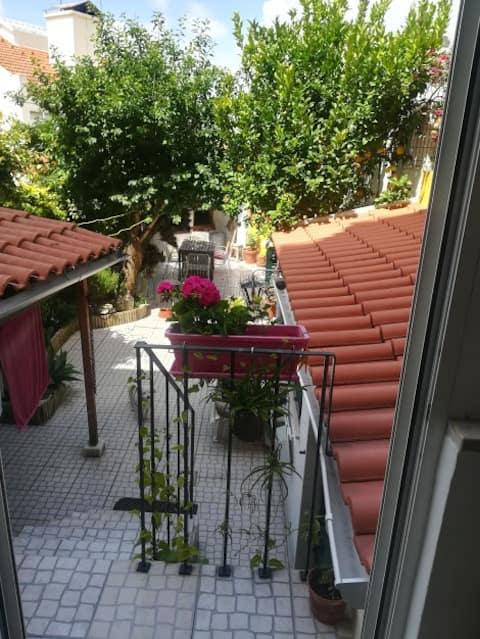Quarto no jardim do apartamento