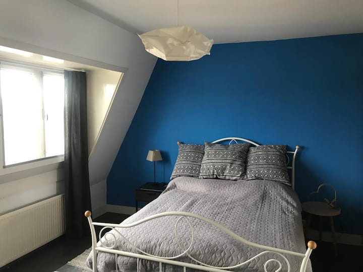 Private double room in small city nearby Rotterdam