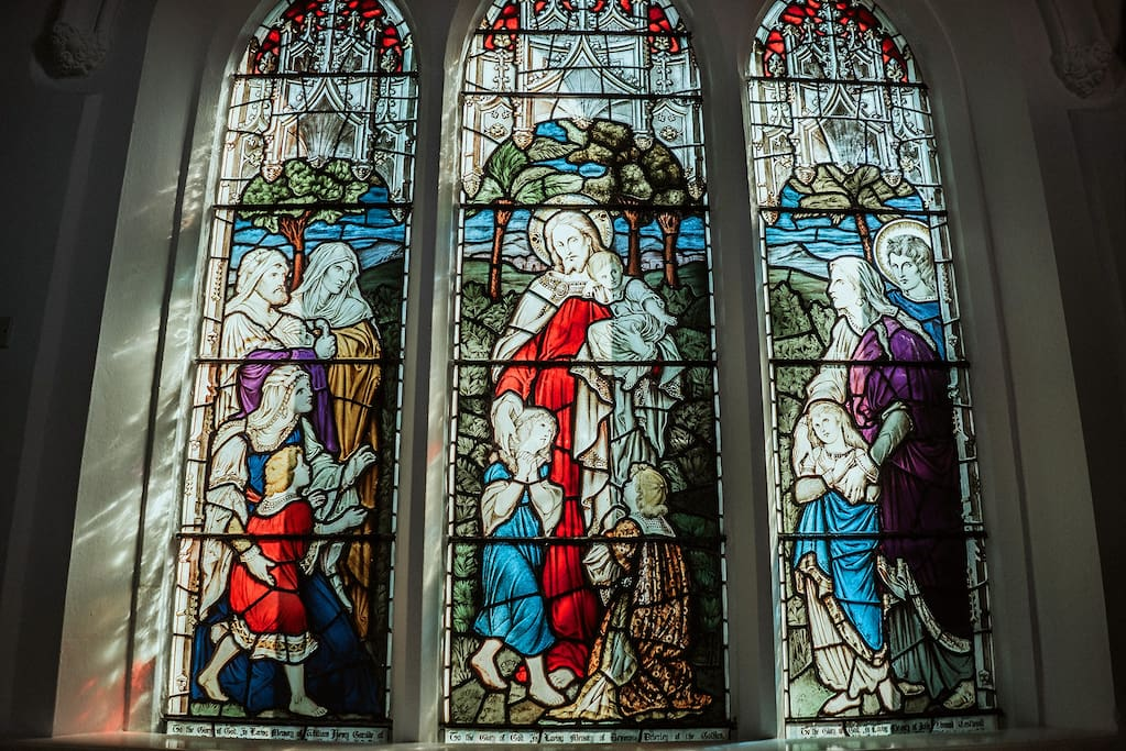 Original Stained Glass window - finished in 1930