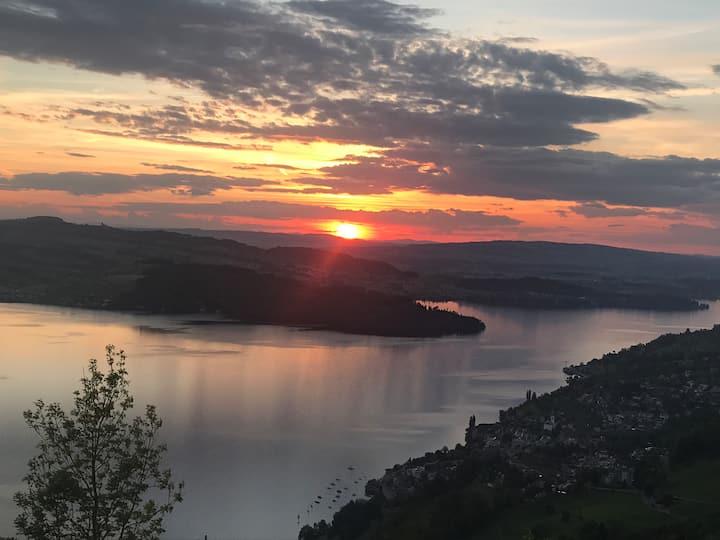 In Landwirtschaft  mit Berg/See Sicht