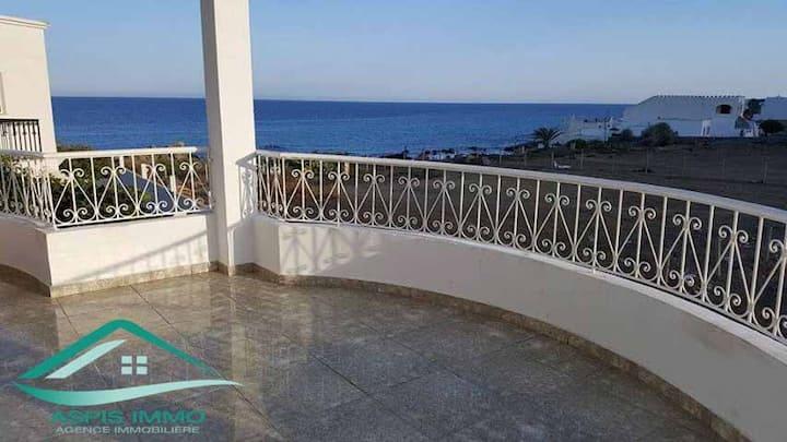 Joli appartement vue sur mer à mansourah kelibia
