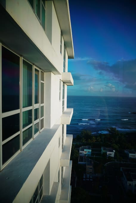 Architectural angles delight your visual intake of the ocean.