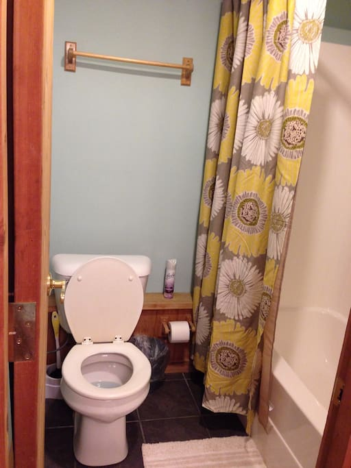 Downstairs bathroom full tub and shower!