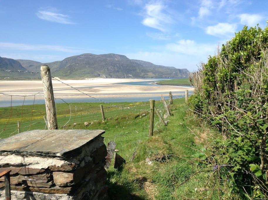 View from garden towards Slieve Tooey.