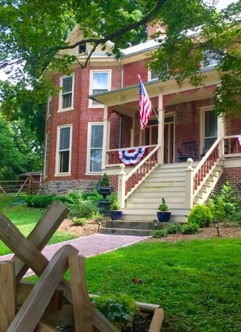 At the heart of Harpers Ferry Historic District you can watch the world go by.