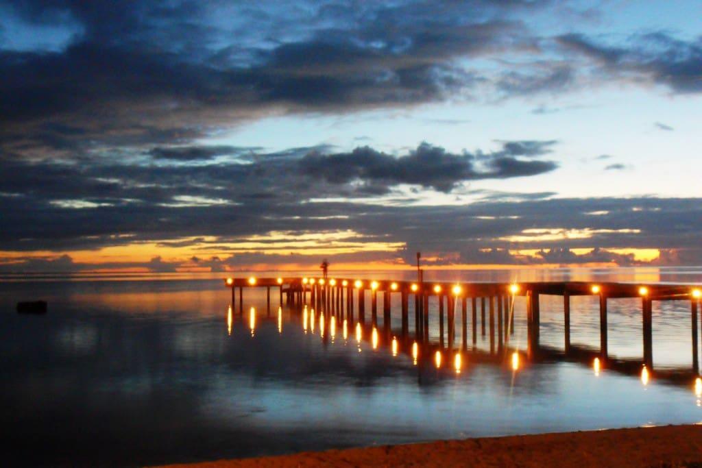 jetty by night
