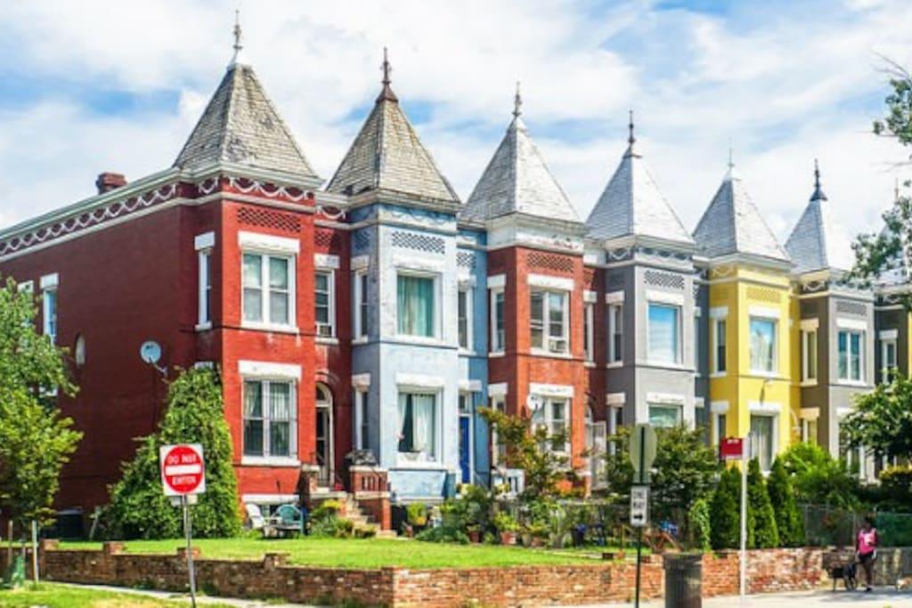 K Street (Light Blue House)