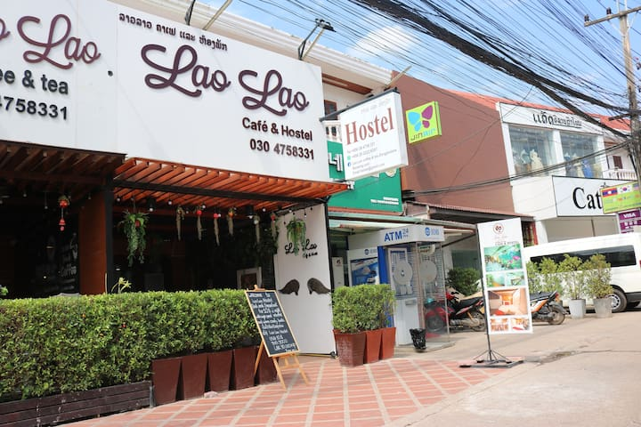 Lao Lao Cafe and Hostel warm and friendly place !
