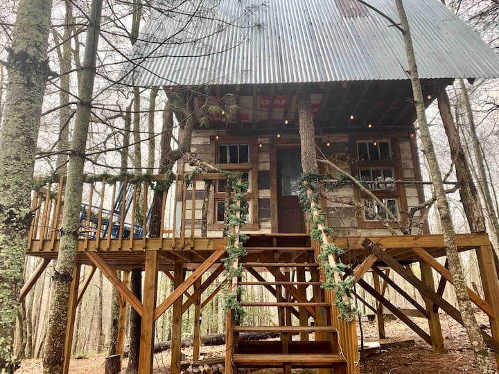 Sereni-tree House - The Book Treehouse of Suches