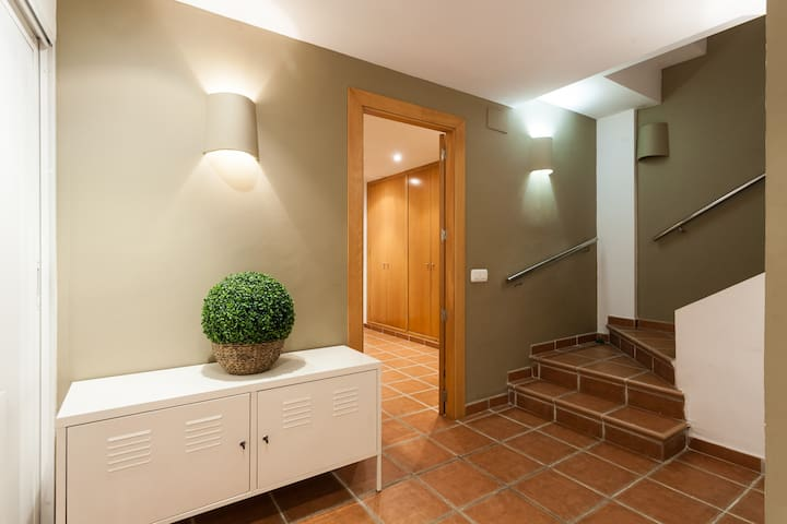 Stairs to the living room