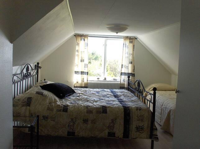 Sovrum på övervåningen