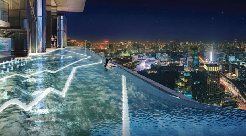 Luxury apt| Infinity swimming pool| Near Siam| 中文