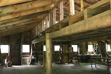 Interior of barn loft- Artist barn available for your use for an extra $50 per night