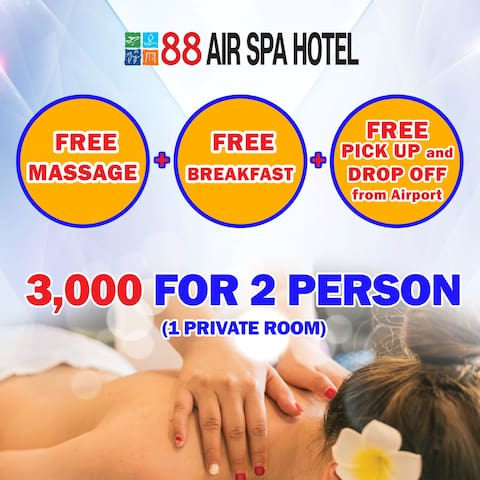 Air Spa Hotel + free pick up,breakfast,Massage