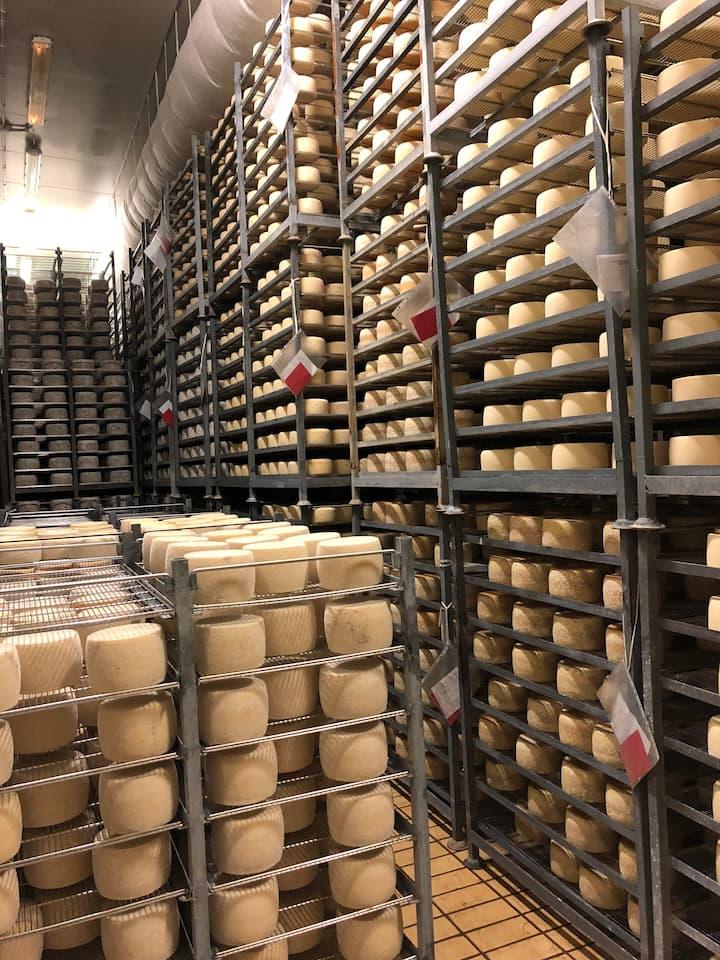 Stagionatura del formaggio