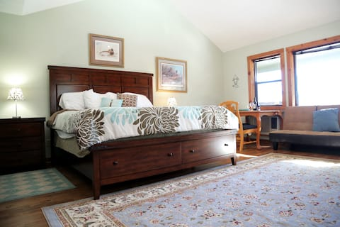 Suite 141 includes a King Bed