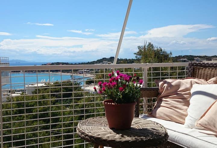Athens Vouliagmeni magnificent sea view apartment