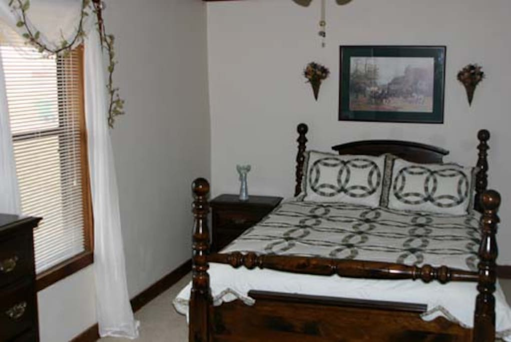 English suite, queen bed with full kitchen, bath, queen sofa bed