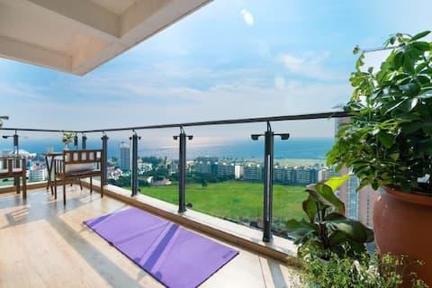 『恭喜①』海景 楼王 泳池 超大阳台 全海景 五星级物管 近银滩 侨港 万达