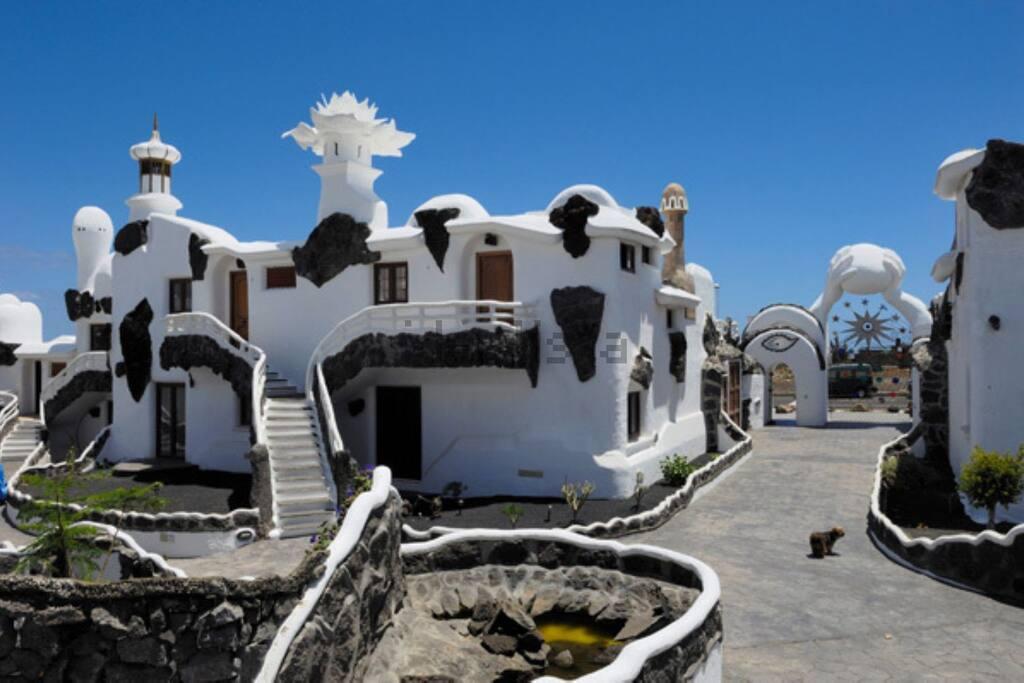 Interior del complejo Gaudista
