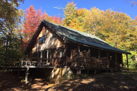 Quaint 4 Season Log Cabin - Mount Holly