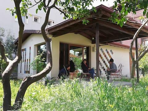 Søtt lite hus - uavhengig - stille - hage