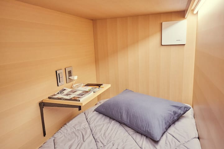 (WOMEN ROOM)*Capsule Hotel Experience*@Myeongdong
