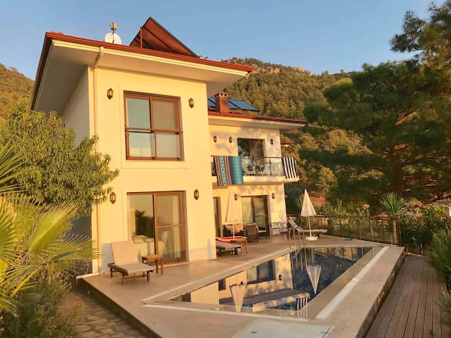 Lotushouse, private pool and stunning sea view.