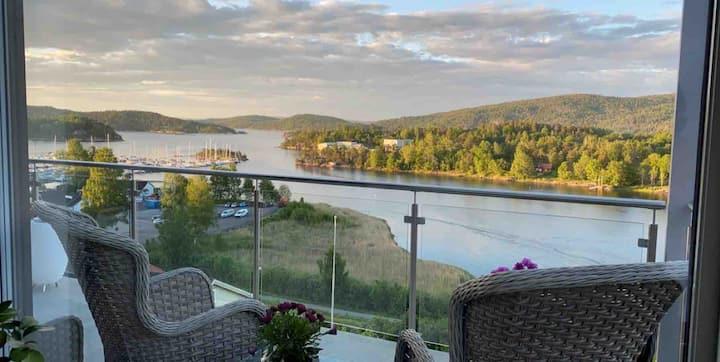 Toppleilighet ved indre Oslofjord