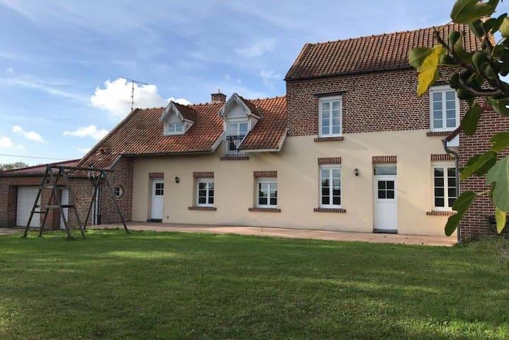 2 chambres dans une maison au cœur de la campagne