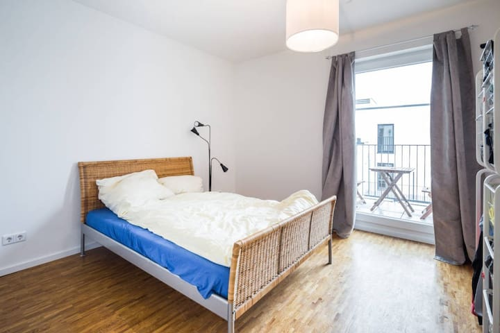 Cozy bedroom with balcony for 1 or 2 persons